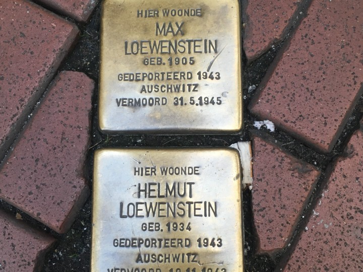Things Helen Loves, image of two small brass plaques set in ground