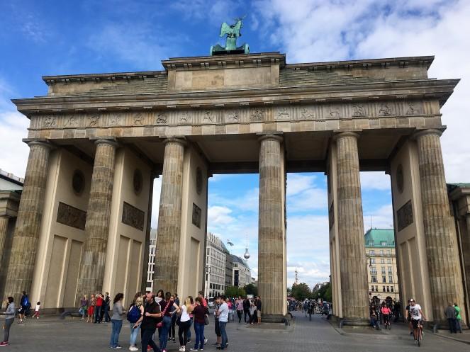 TV Tower viewed through the Brandenburg Gate, Berlin