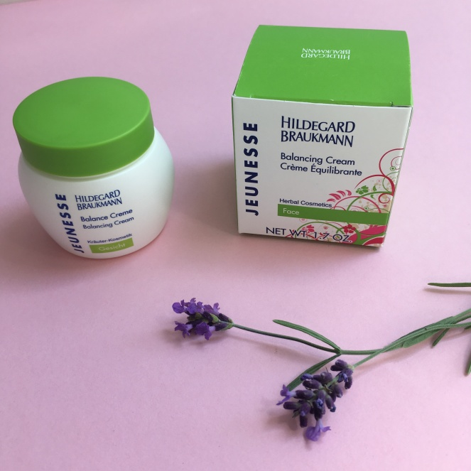 Things Helen Loves, Hildegard Braukmann cream with sprig of Lavender