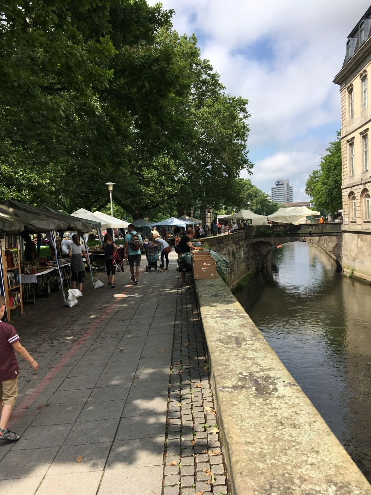 flea market by the river in Hannover