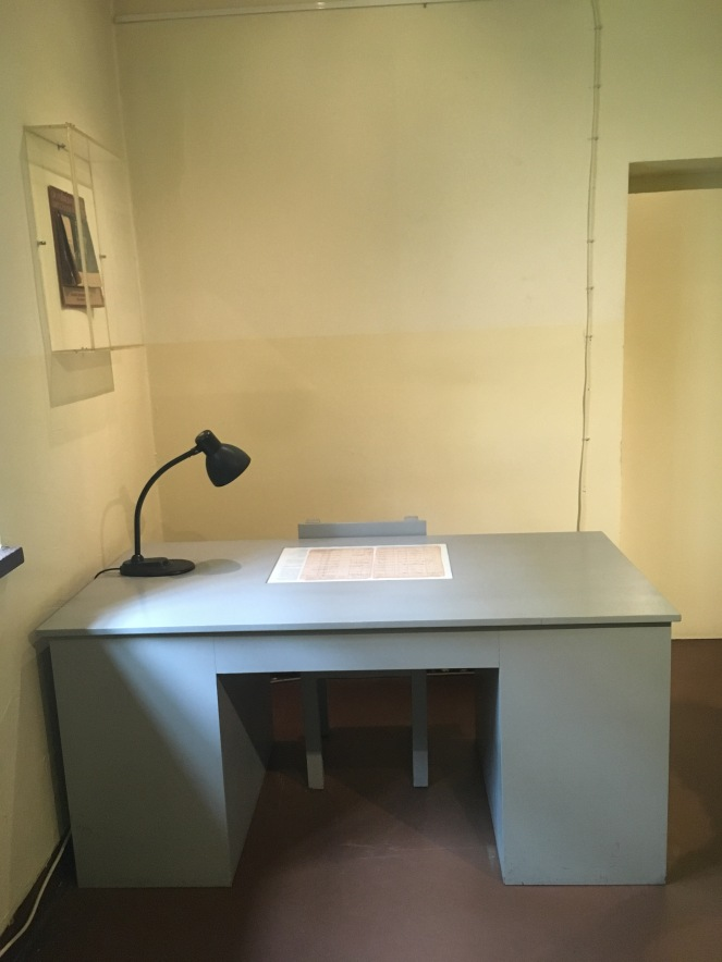 Things Helen Loves, Prison room with blue desk