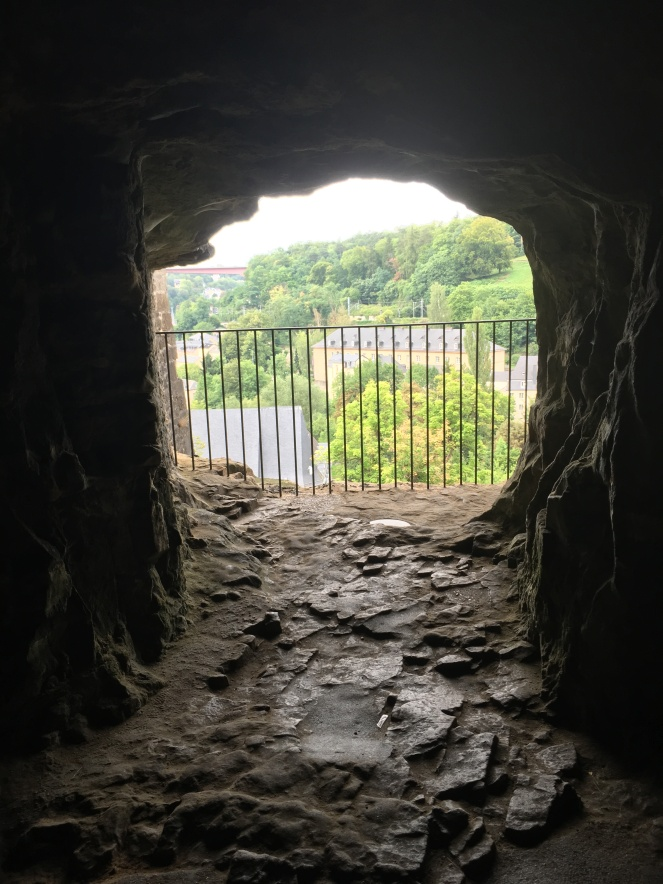 View of Luxembourg City from A Tunnel at Casemates Du Bock