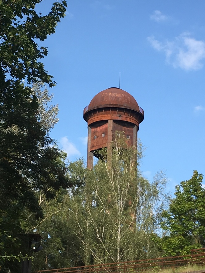 Things Helen Loves, View of a rusting water tower