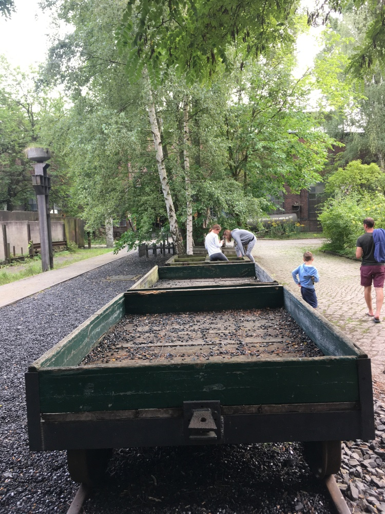 Things Helen Loves, old flatbed wagons sitting under trees
