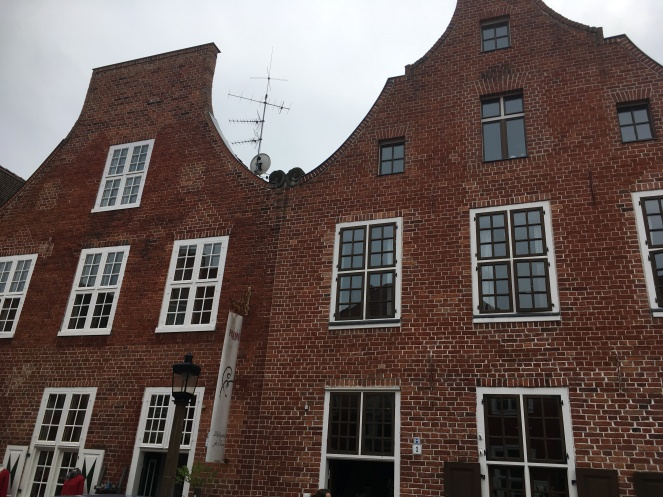 Things Helen Loves, image of red brick houses in traditional Dutch style.