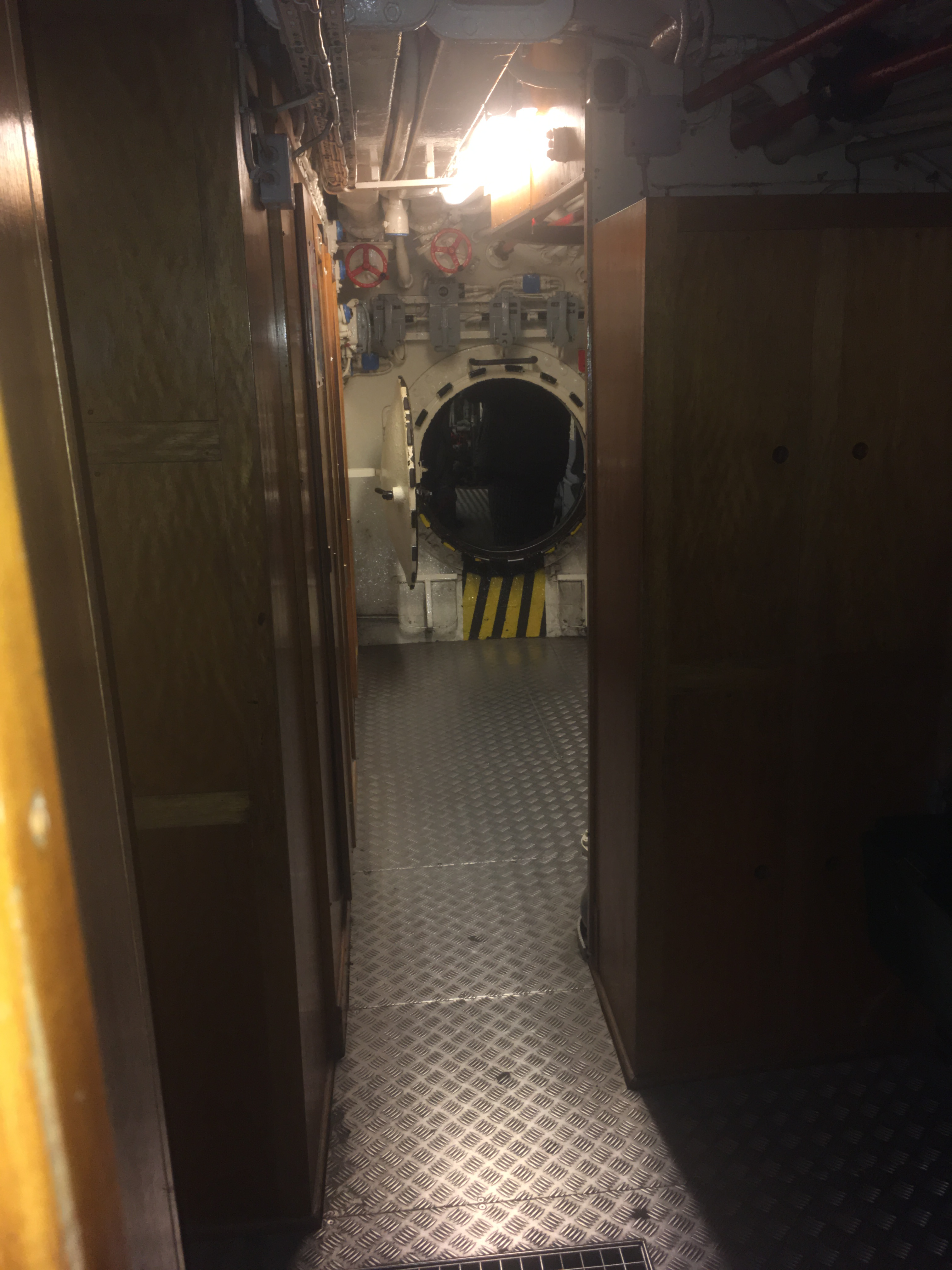 Things Helen Loves, view of corridor and small round hatch onboard submarine