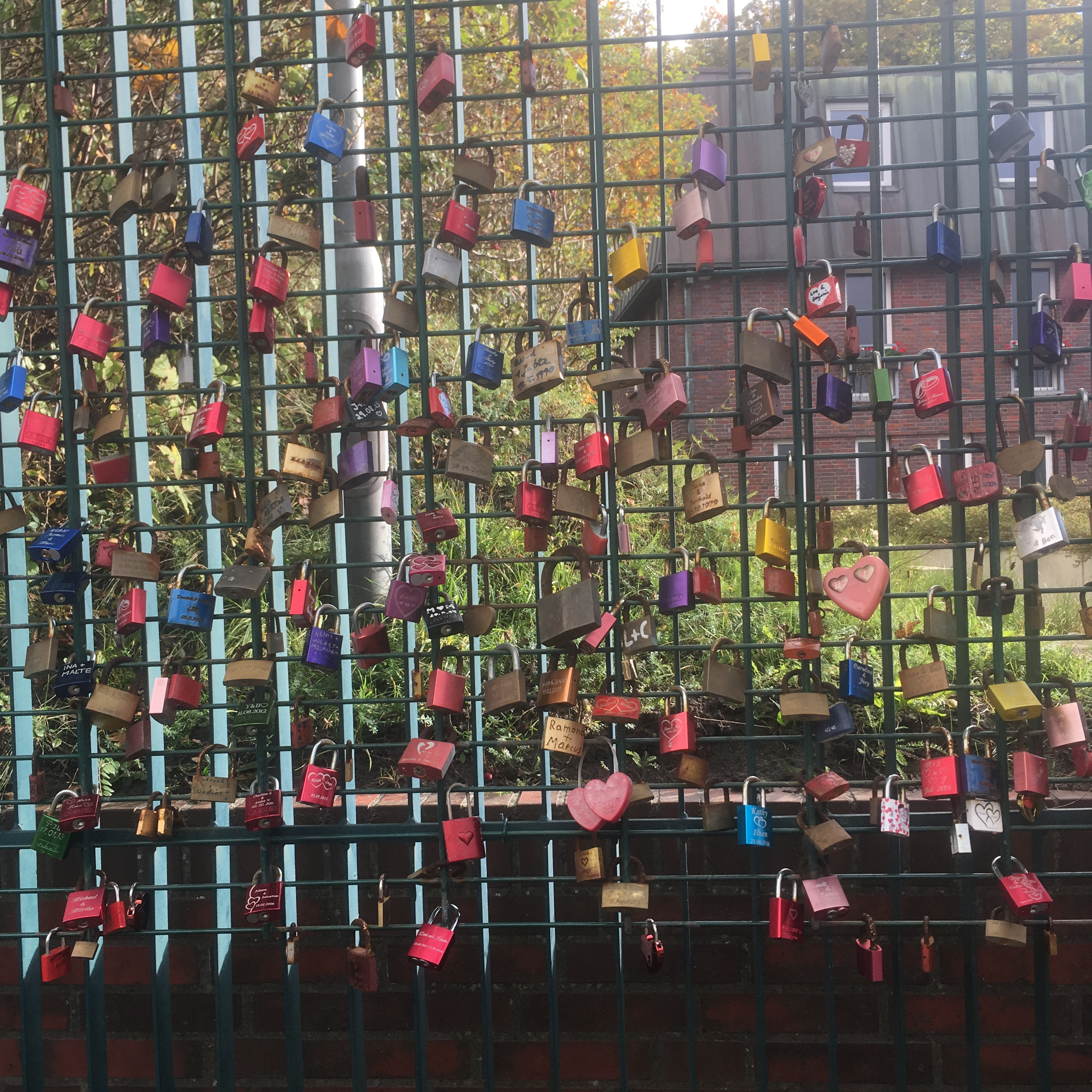 Things Helen Loves, Gate decorated with padlocks representing everlasting love