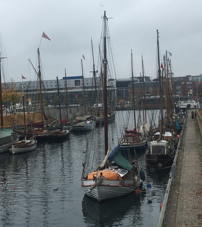 Thing Helen Loves, historic boats in the harbour Kiel