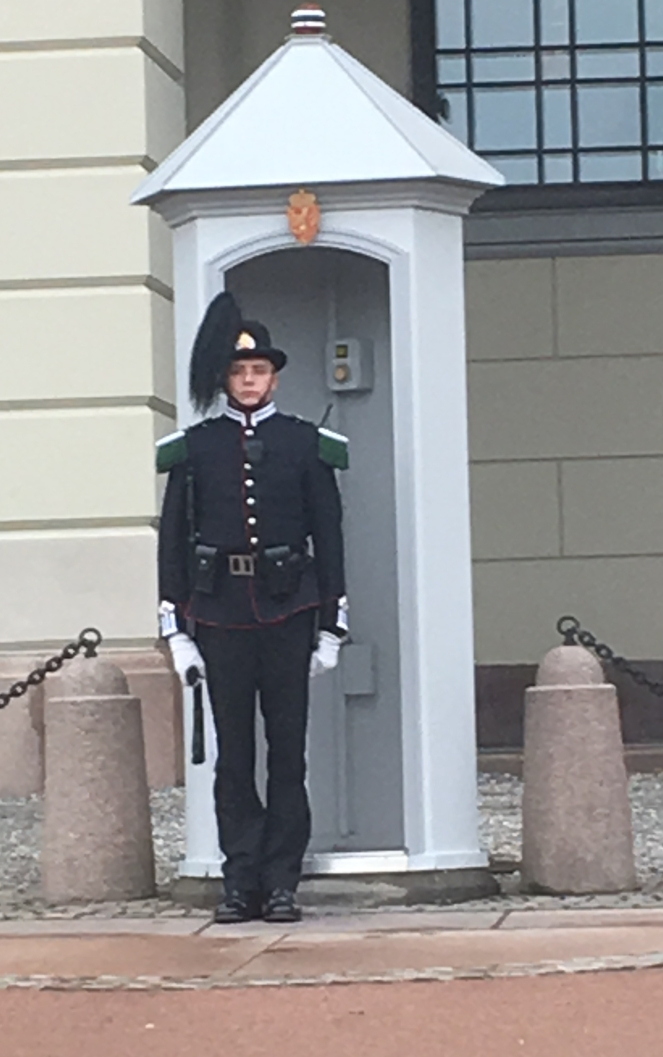 Things Helen Loves, Royal guard outside sentry box in Oslo