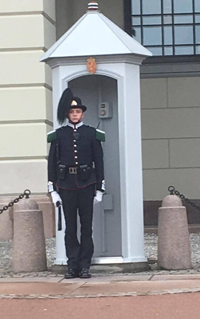 Things Helen Loves, Royal guard outside sentry box in Oslo