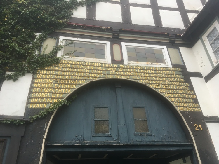Things Helen Loves, half timbered and decorated German house.