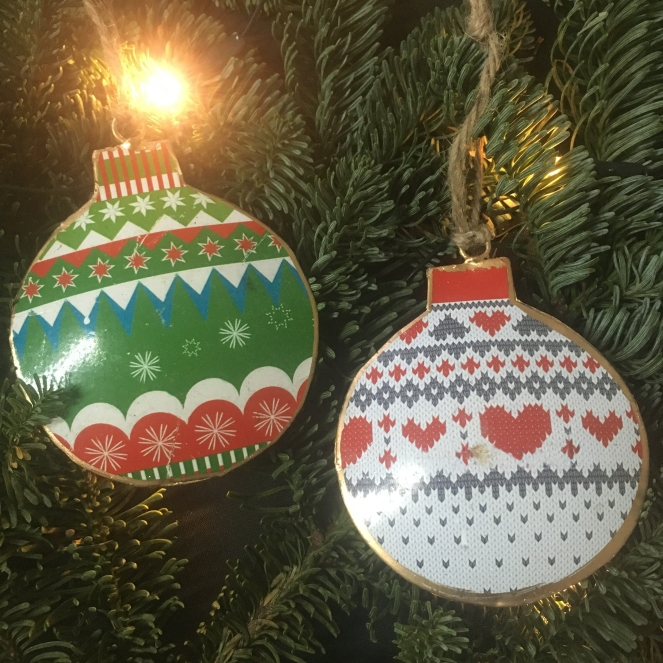 Things Helen Loves, two vintage inspired tree decorations