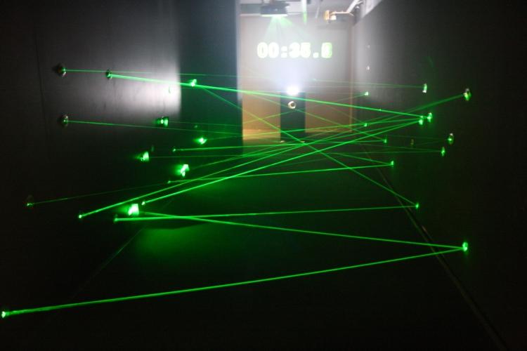 hings Helen Loves, Laser Challenge in German Spy Museum, Berlin.