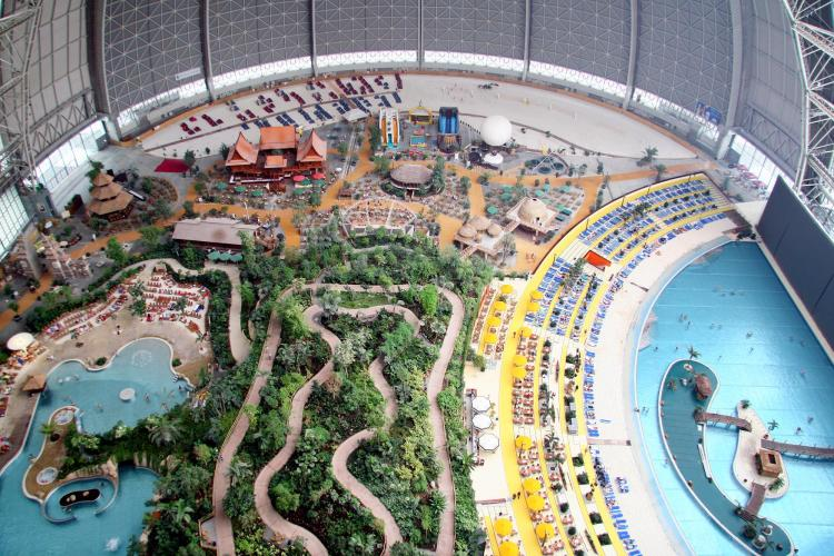 Things Helen Loves, ariel image of Tropical Islands theme park
