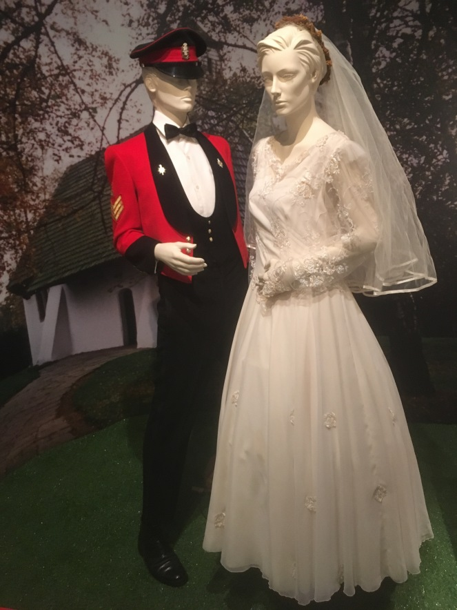 Things Helen Loves, Image of mannequins dressed for a military wedding.