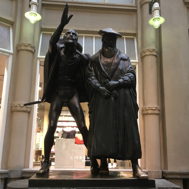 Things Helen Loves, Goethe inspired statues in Leipzig
