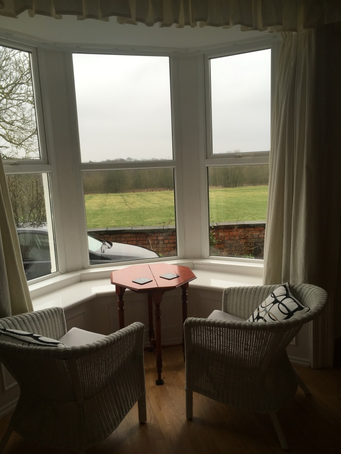 Things Helen Loves, seating in bay window with rural views
