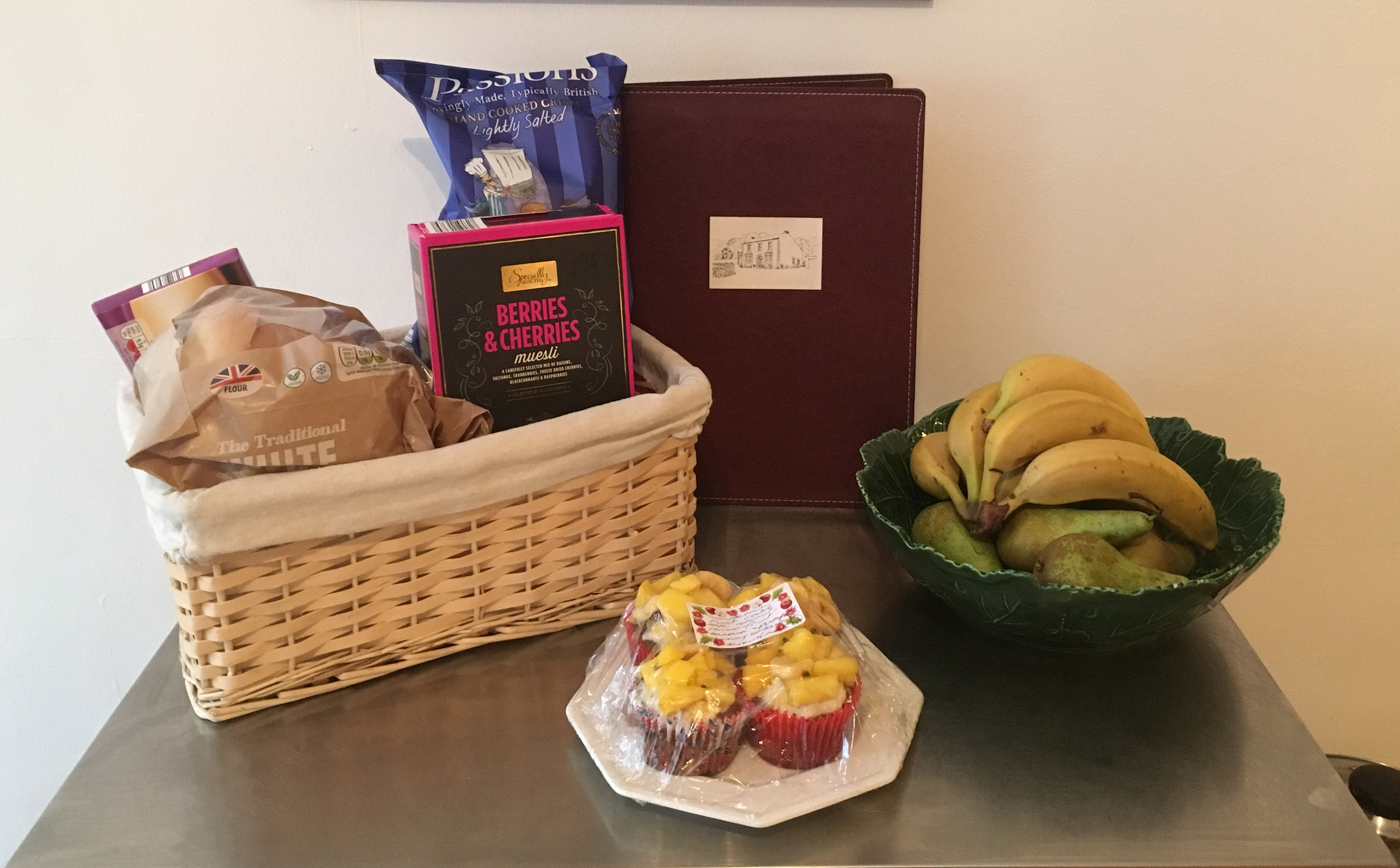 Things Helen Loves, image of fresh fruit and home baked goods in cottage kitchen