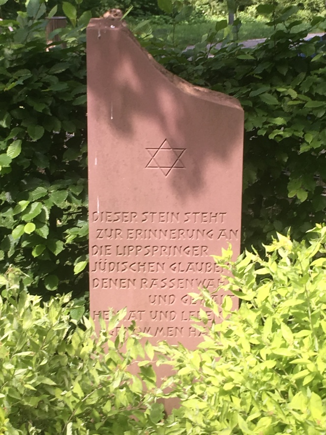 Things Helen Loves, stone memorial to victims of the Holocaust in Bad Lippspringe