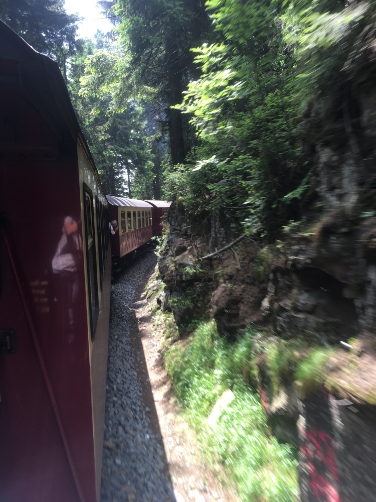 Things Helen Loves, image taken from train as it climbs the mountain.