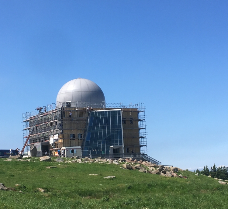 Things Helen Loves, image of dome topped transmitter facility on mountain top in the Harz.