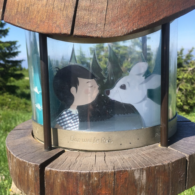 Things Helen Loves, 3D fairytale image of boy and white deer.