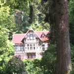 Things Helen Loves, image of traditional German house nestled in the trees