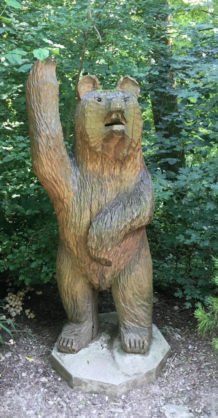 Things Helen Loves, image of wooden bear in trees