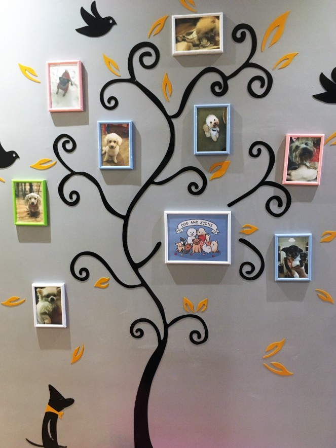 Things Helen Loves, images of dogs arranged as family tree