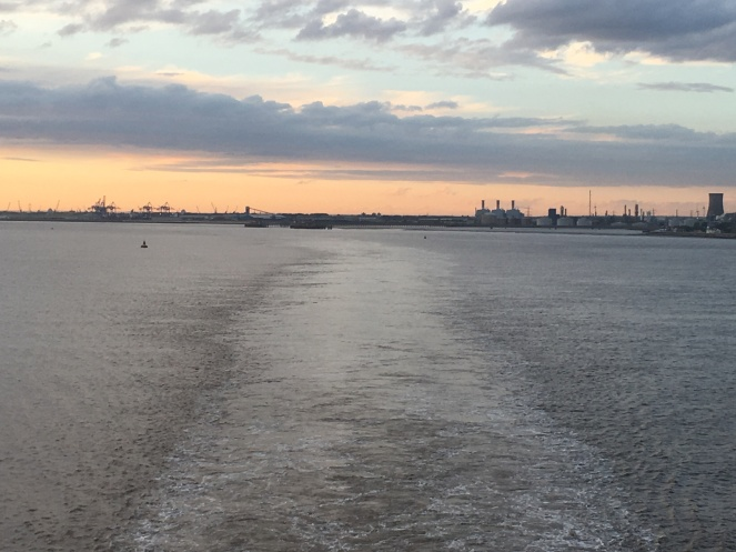 Things Helen Loves, View of Hull as ferry sails out of port.