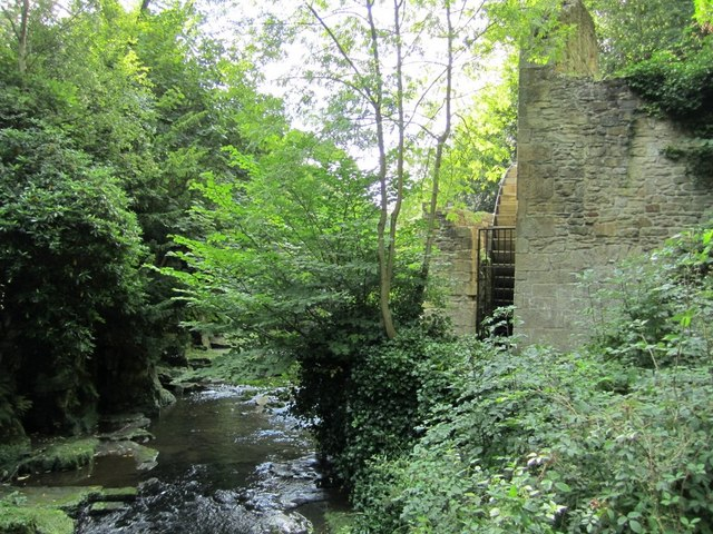 Things Helen Loves, Image of river with greenery and ruins of watermill