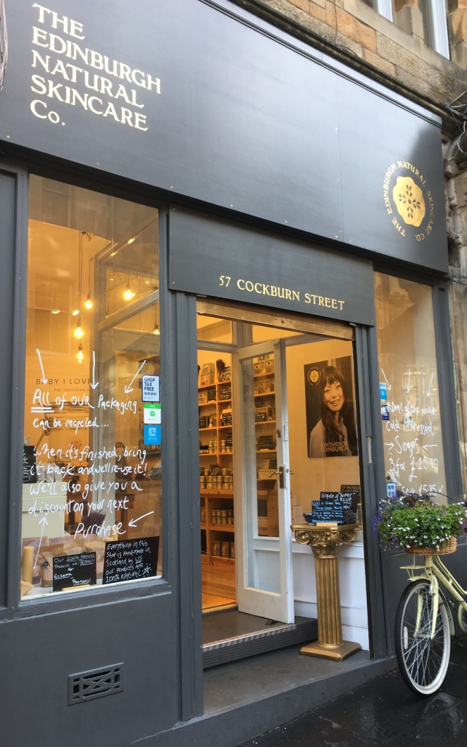 Things Helen Loves, Independant skincare shop in Edinburgh