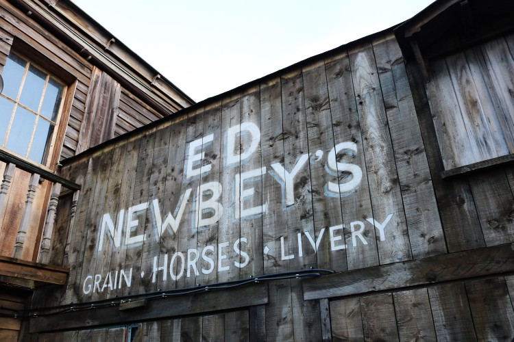 Things Helen Loves, wooden signage for 'store & livery'.