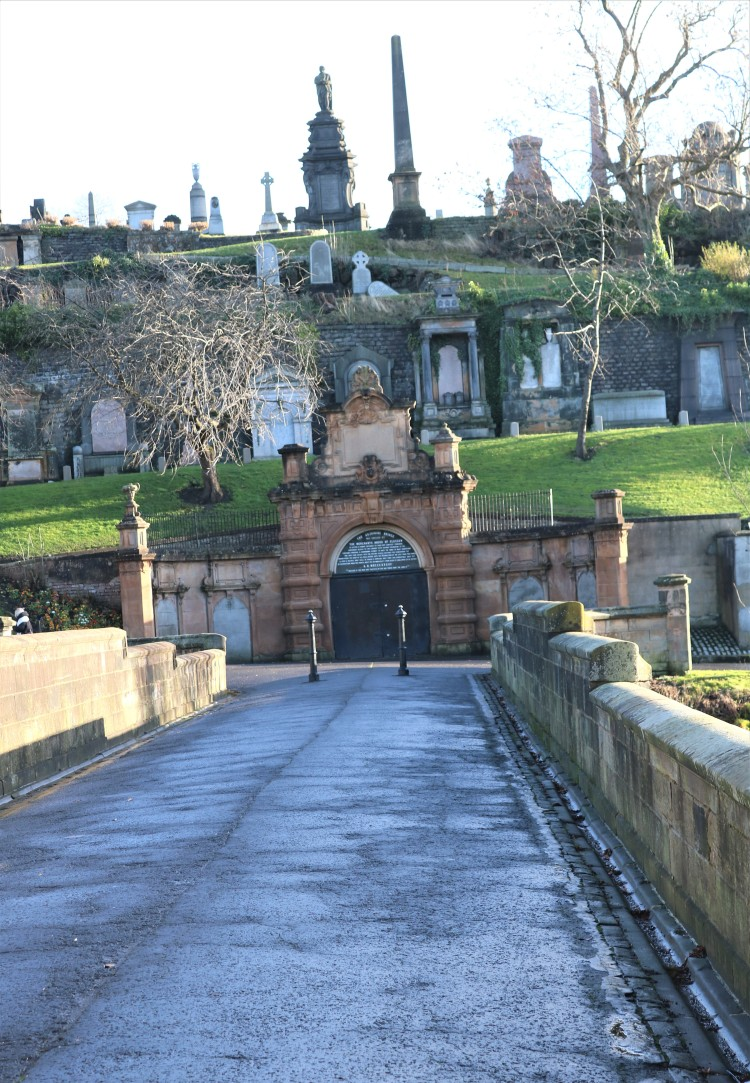 Things Helen Loves, view across bridge into cemetery