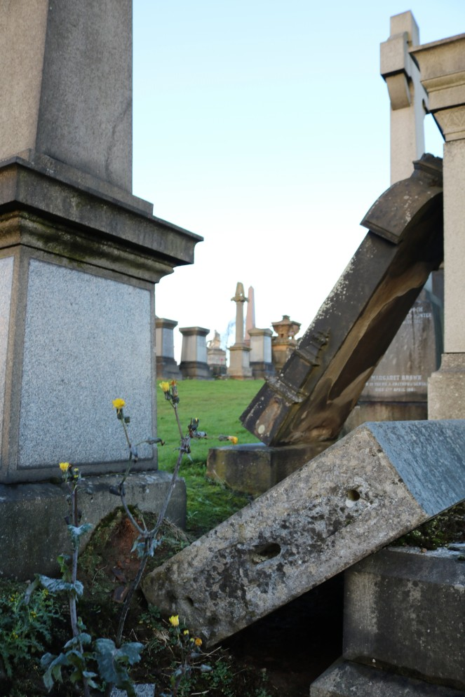 Things Helen Loves, Image of fallen gravestones and flowers