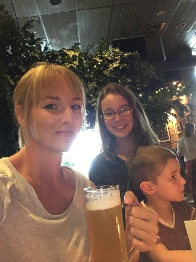 Things Helen Loves, image of woman and two children in German Beer Hall