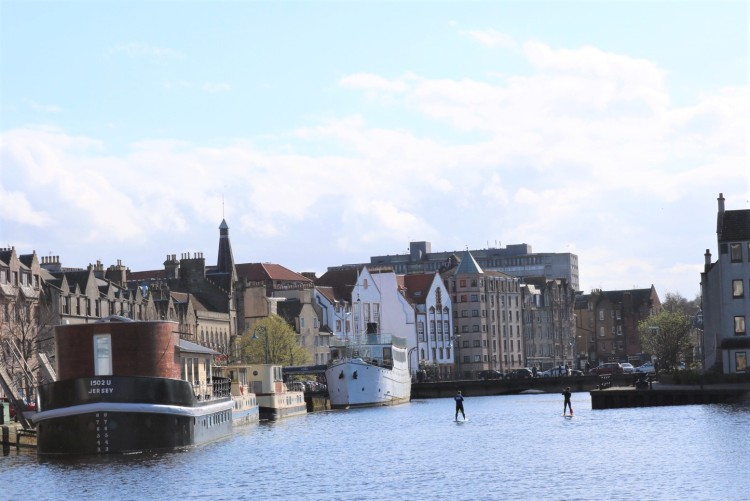 Things Helen Loves, vies across the old harbour, Leith