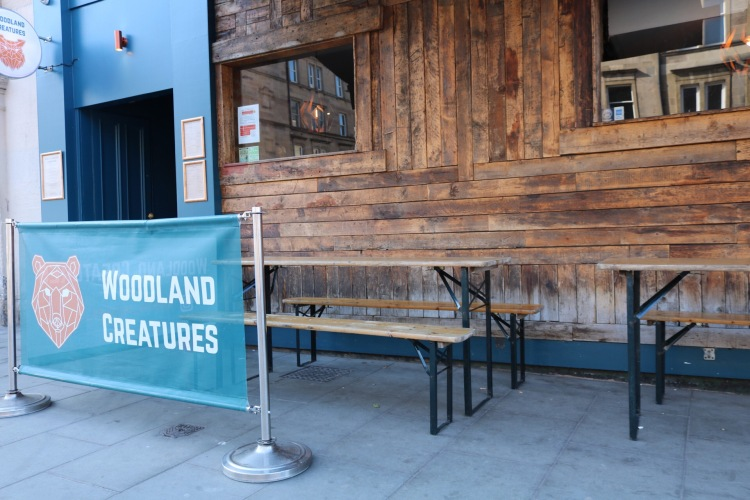 Things Helen Loves, exterior of Woodland Creatures Gastropub in Leith
