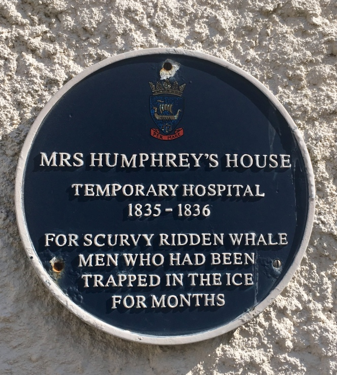 Things Helen Loves, image of blue plaque in Stromness