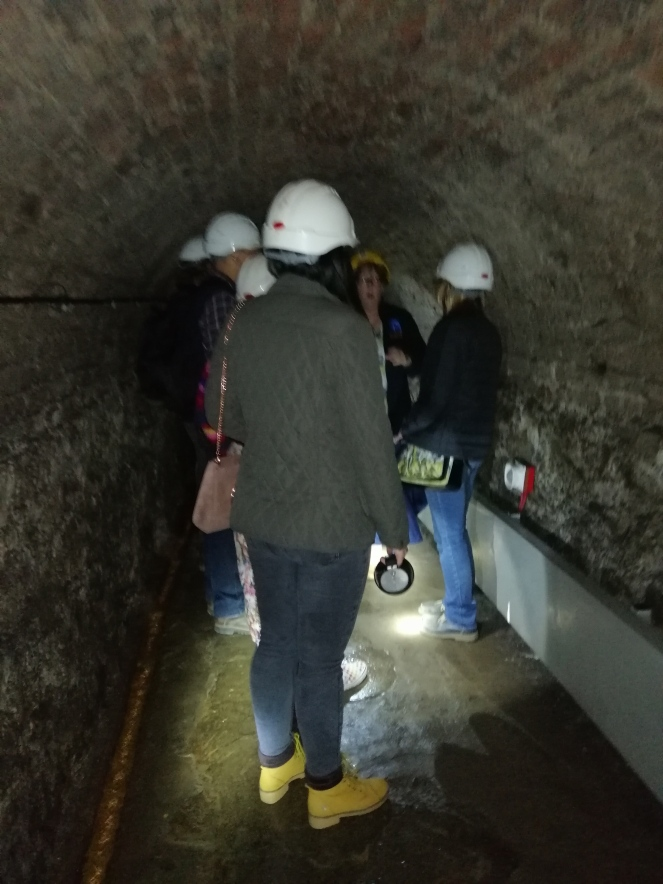 Things Helen Loves, image of inside of tunnel with tour group