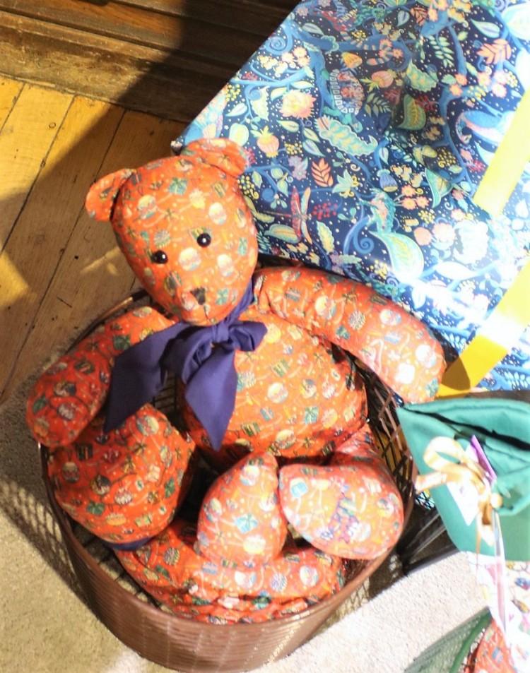 Things Helen Loves, teddy bear in Liberty fabric