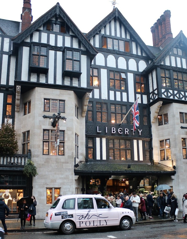 Things Helen Loves, exterior of Liberty London