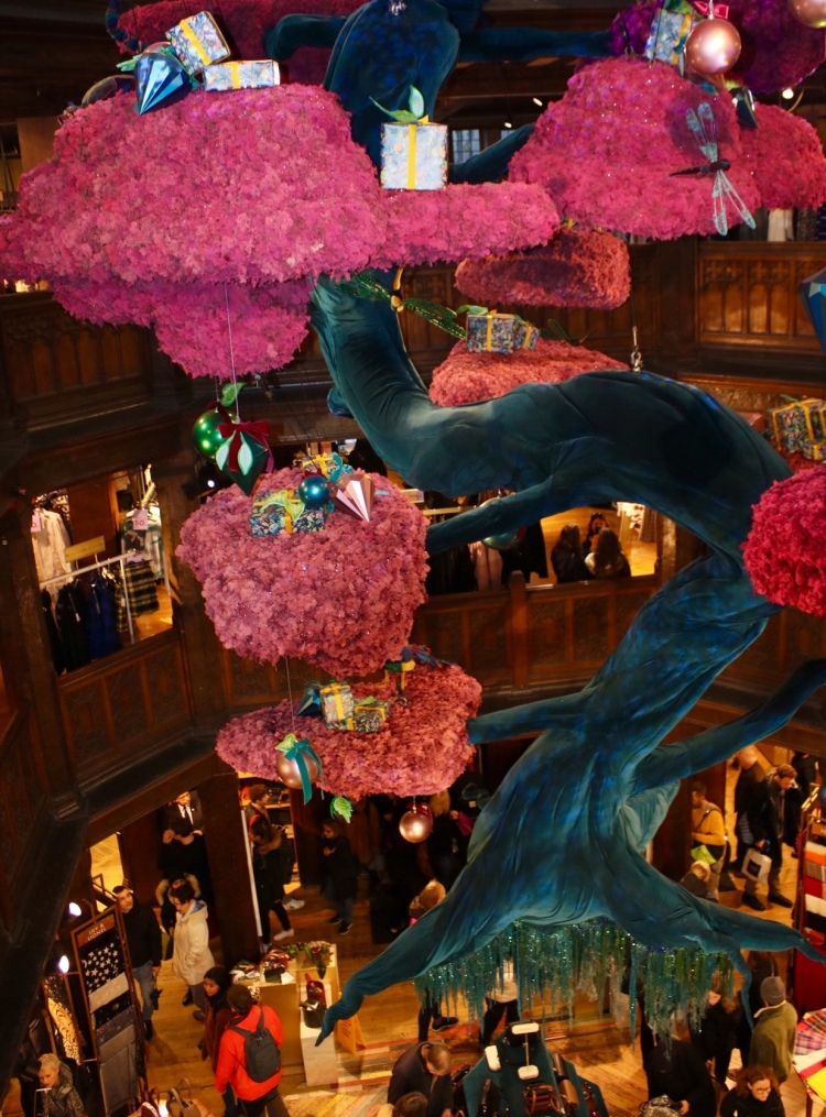 Things Helen Loves, Floating Bonsai tree feature at Liberty London