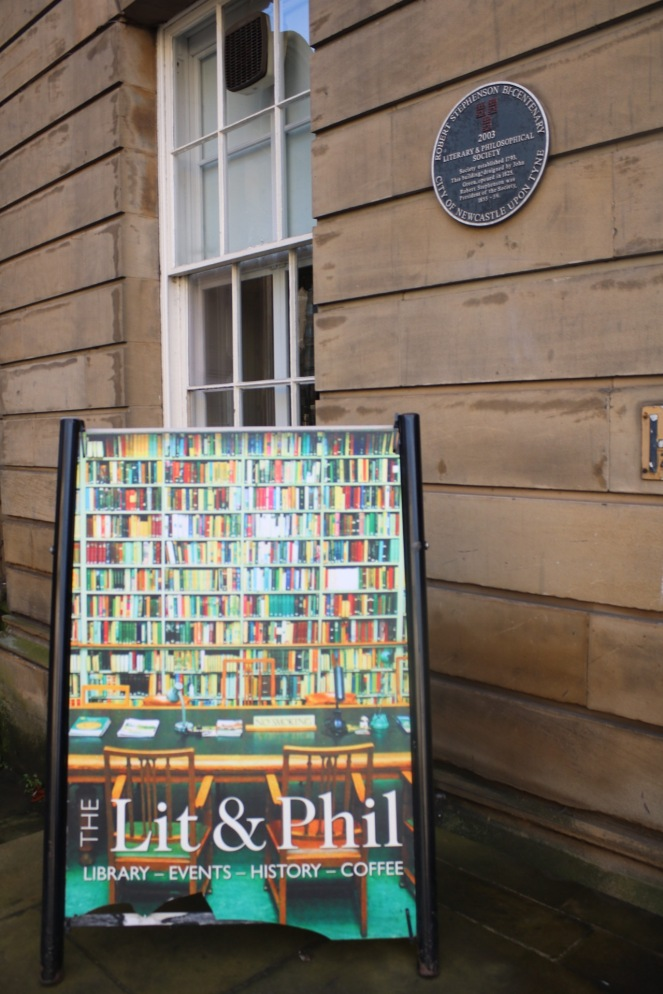 Things Helen Loves, image of signage and exterior of Lit&Phil