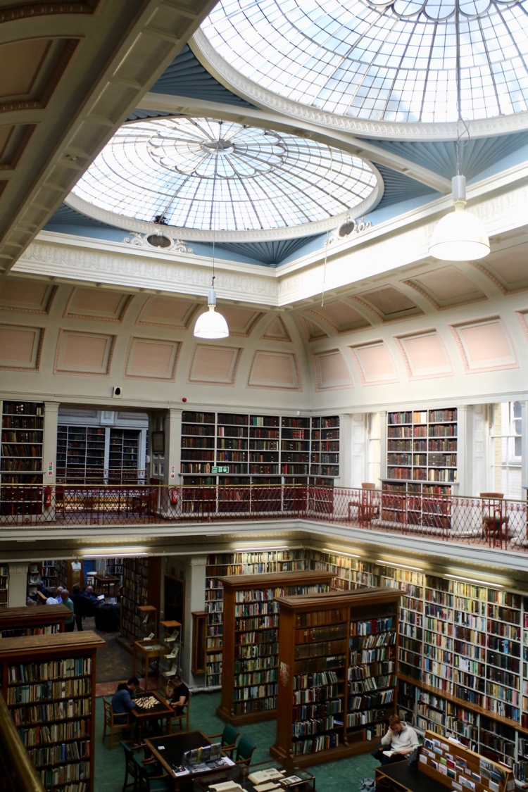 Things Helen Loves, interior of Lit and Phil Library Newcastle