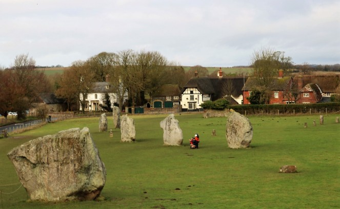Things Helen Loves, stone circle with thatched cottage in the background