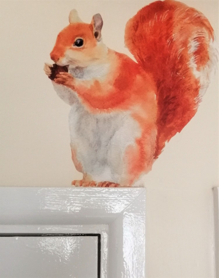 Things Helen Loves, red squirrel wall sticker