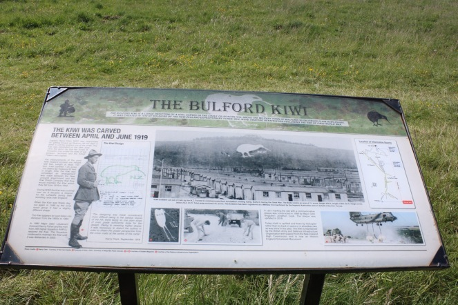 Things Helen Loves, information point about the Bulford Kiwi
