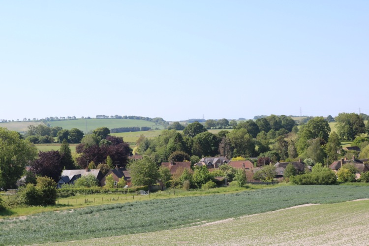 Things Helen Loves, views across the fields to the village