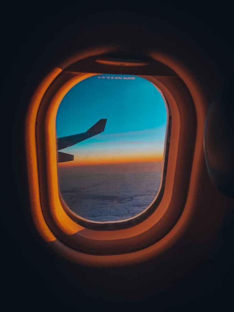 photo of airplane window